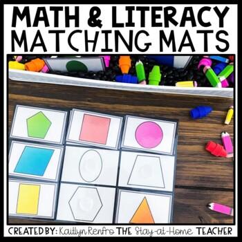 Preschool Skills Sensory Bins - Matching Mats