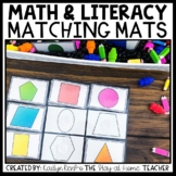 Math and Literacy Sensory Bin Matching Mats
