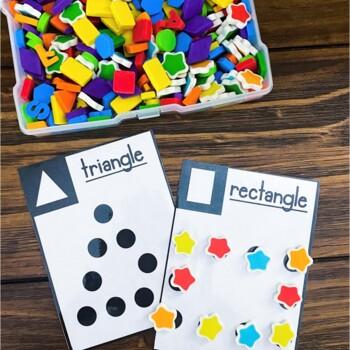 Preschool Skills Sensory Bins - Task Cards