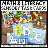 Math and Literacy Sensory Bin Task Cards