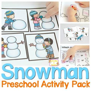 Preschool Skills Snowman Printable Pack