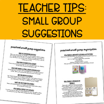 Preschool Small Group: Letter Identification
