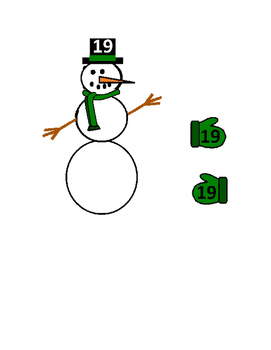 Preschool Snowman Number Match with Mittens and Hats