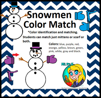 Preschool Snowmen Color Match