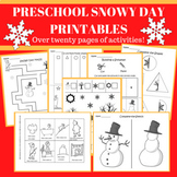 Preschool Snowy Day Printables: Sequencing, Cut and Paste + More