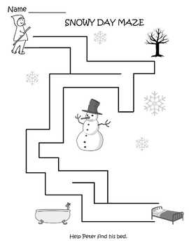 Preschool Snowy Day Printables Sample Pack