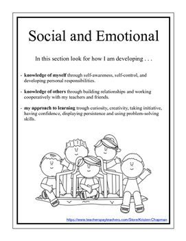Preschool Social and Emotional Portfolio Packet