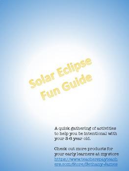 Preschool Solar Eclipse Fun Guide
