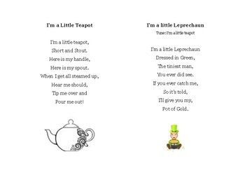 Preschool Song Cards