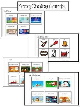 Preschool Song Choice Board