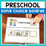 Preschool Songs Choice Making Boards