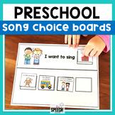 Preschool Songs Choice Making Boards
