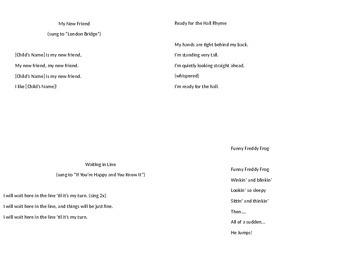 Preschool Songs and Rhymes
