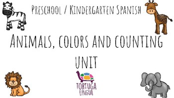 Preschool Spanish Animals and Colors unit