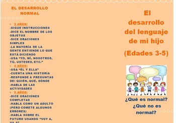 Preschool Spanish Language Development Brochure