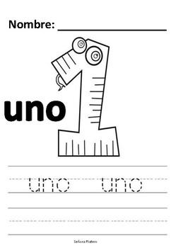 Preschool Spanish Worksheets