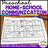 Parent Communication Notes for Preschool Special Education