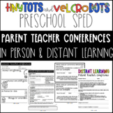 Preschool Special Education Parent-Teacher Conference Forms