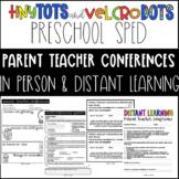 Preschool Special Education Parent-Teacher Conference Forms