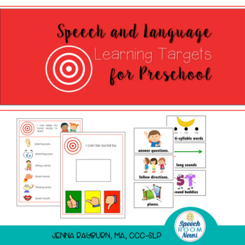 Preschool Speech & Language Learning Targets (I can statements)