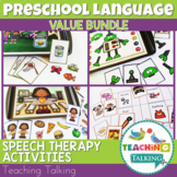 Speech Therapy Boom Cards & Preschool Language Activities Bundle