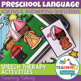 WH Questions Speech Therapy - Distance Learning Suitable
