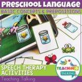 Prepositions Speech Therapy Activities for Preschool