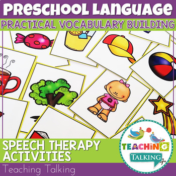 Vocabulary Activities For Preschool By Teaching Talking Tpt