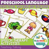 Vocabulary Speech Therapy Activities for Preschool
