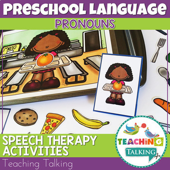 Distance Learning Speech Therapy Pronouns Activities