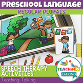 Preschool Speech Therapy Activities: Regular Plurals