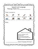 Preschool Speech Therapy Note for Home