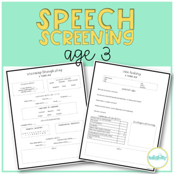 Preschool Speech and Language Assessment