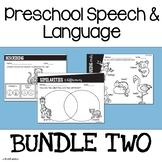 Preschool Speech and Language | Themed Speech Therapy Activities