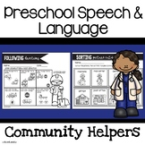 Preschool Speech and Language | Community Helpers Unit | Community Helpers Theme