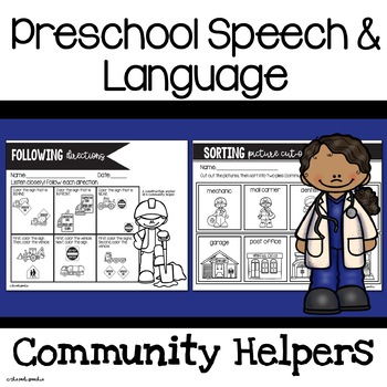 Preschool Speech and Language Community Helpers