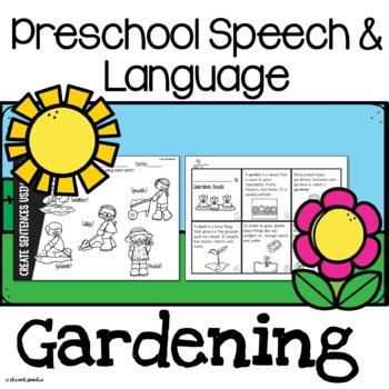 Preschool Speech and Language Gardening