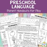 Preschool Speech and Language Kit: Parent Handouts