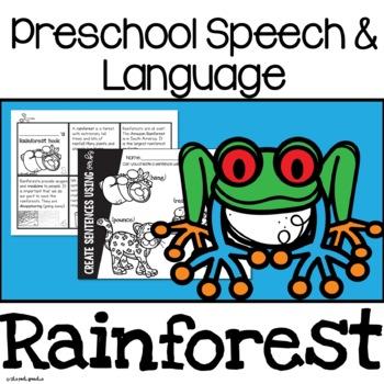 Preschool Speech and Language   Rainforest Animals