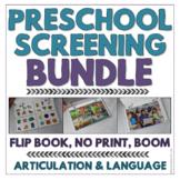 Preschool Speech & Language Screening Kit - No Print and Flip Book