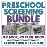 Preschool Speech & Language Screening Kit - No Print and F