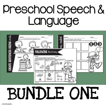 Preschool Speech and Language