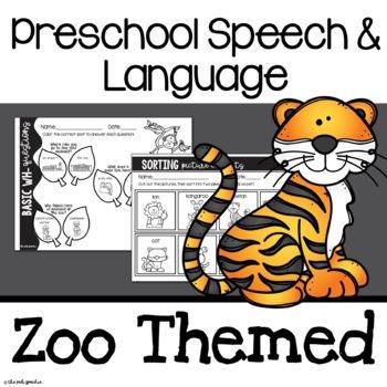 Preschool Speech and Language | Speech Therapy Activities for Preschoolers | Zoo