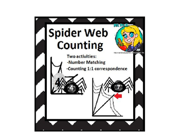 Preschool Spider Web Counting