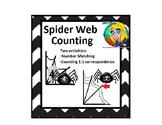 Preschool Spider Web Counting