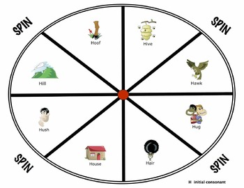 Preschool Spinner Games for speech