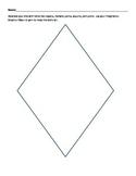 Preschool Spring Kite Diamond Art Cutting Activity K3 K4