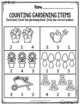 Preschool Spring Theme Printable Worksheets