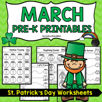 March/St. Patrick's Day Preschool Morning Work