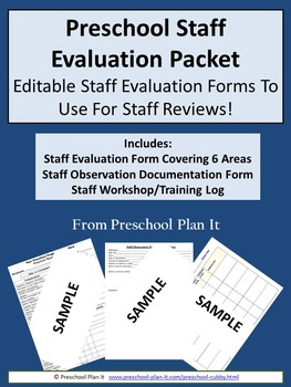 Preschool Staff Evaluation Packet